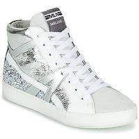 Topánky Ženy Členkové tenisky Meline IN1363 Biela / Strieborná