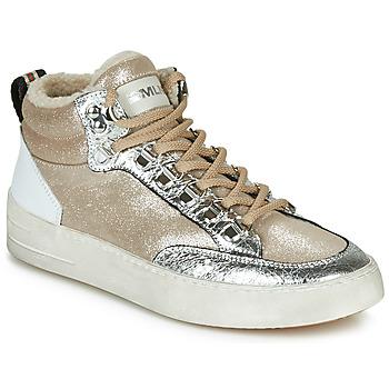 Topánky Ženy Členkové tenisky Meline STRA5056 Béžová / Zlatá