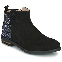 Topánky Dievčatá Polokozačky Acebo's 8035-NEGRO-J Čierna