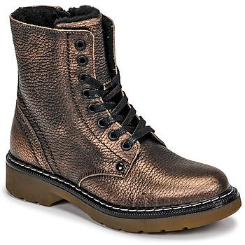Topánky Dievčatá Polokozačky Bullboxer AOL501E6LGCHAM Bronzová