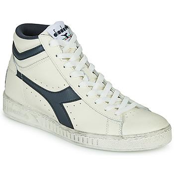 Topánky Členkové tenisky Diadora GAME L HIGH WAXED Biela / Modrá