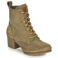 Topánky Ženy Čižmičky Art CAMDEN Kaki
