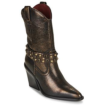 Topánky Ženy Čižmičky Bronx NEW KOLE Čierna / Zlatá