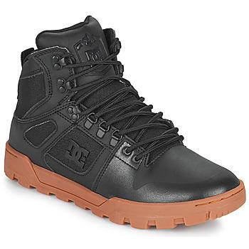 Topánky Muži Členkové tenisky DC Shoes PURE HIGH TOP WR BOOT Čierna