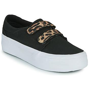 Topánky Ženy Členkové tenisky DC Shoes TRASE PLATEFORM V Čierna / Leopard