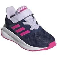 Topánky Deti Bežecká a trailová obuv adidas Originals Runfalcon I Biela,Tmavomodrá