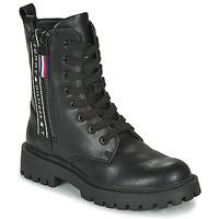 Topánky Deti Polokozačky Tommy Hilfiger T3A5-30851 Čierna