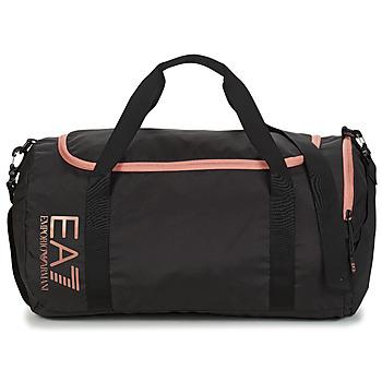 Tašky Ženy Športové tašky Emporio Armani EA7 TRAIN CORE U GYM BAG SMALL Čierna / Ružová