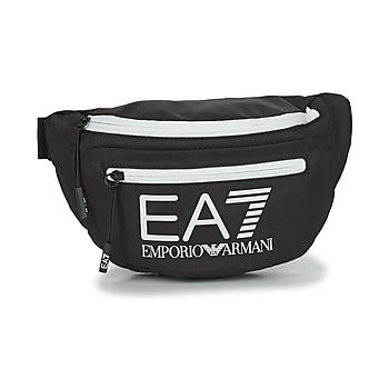 Tašky Ľadvinky Emporio Armani EA7 TRAIN CORE U SLING BAG Čierna / Biela