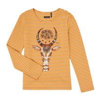 Oblečenie Dievčatá Tričká s dlhým rukávom Ikks XR10102 Hnedá