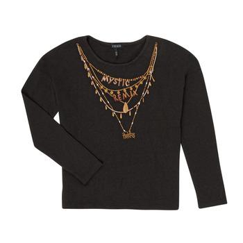 Oblečenie Dievčatá Tričká s dlhým rukávom Ikks XR10122 Čierna