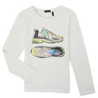 Oblečenie Dievčatá Tričká s dlhým rukávom Ikks XR10172 Biela