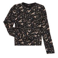 Oblečenie Dievčatá Tričká s dlhým rukávom Ikks XR12052 Čierna