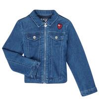 Oblečenie Dievčatá Džínsové bundy Ikks XR40052 Modrá