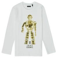 Oblečenie Chlapci Tričká s dlhým rukávom Ikks XR10233 Biela