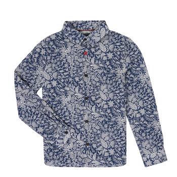 Oblečenie Chlapci Košele s dlhým rukávom Ikks XR12023 Modrá