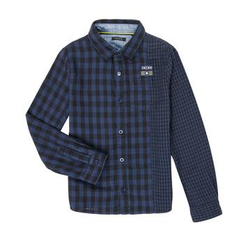 Oblečenie Chlapci Košele s dlhým rukávom Ikks XR12123 Modrá