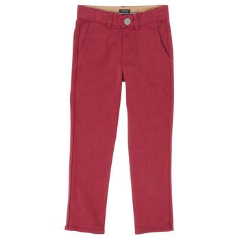 Oblečenie Chlapci Nohavice päťvreckové Ikks XR22093 Červená