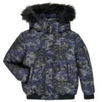 Oblečenie Chlapci Vyteplené bundy Ikks XR41133 Modrá