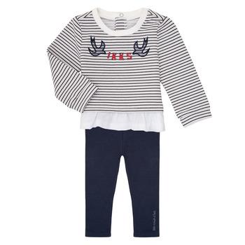 Oblečenie Dievčatá Komplety a súpravy Ikks XR36030 Námornícka modrá / Biela
