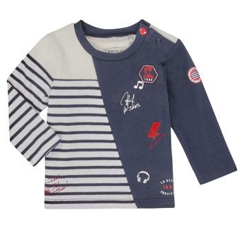 Oblečenie Chlapci Tričká s dlhým rukávom Ikks XR10041 Biela