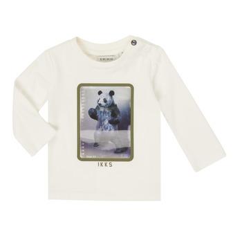 Oblečenie Chlapci Tričká s dlhým rukávom Ikks XR10101 Biela