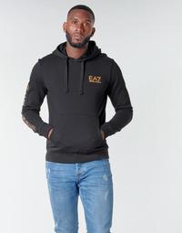 Oblečenie Muži Mikiny Emporio Armani EA7 TRAIN LOGO SERIES M HOODIE RN COFT Čierna