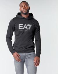 Oblečenie Muži Mikiny Emporio Armani EA7 TRAIN VISIBILITY M HOODIE RN COFT Čierna