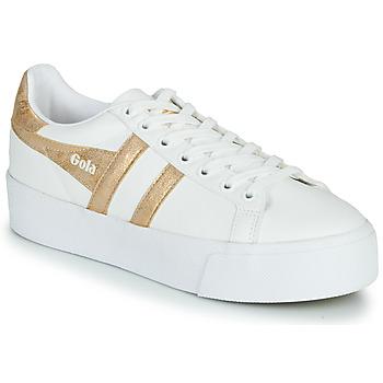 Topánky Ženy Nízke tenisky Gola ORCHID PLATEFORM Biela / Zlatá