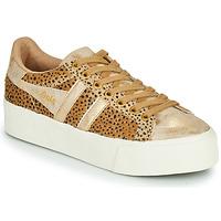 Topánky Ženy Nízke tenisky Gola ORCHID PLATEFORM SAVANNA Zlatá / Leopardí vzor