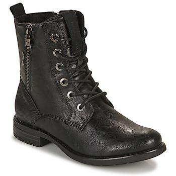 Topánky Ženy Polokozačky Tom Tailor 93303-NOIR Čierna