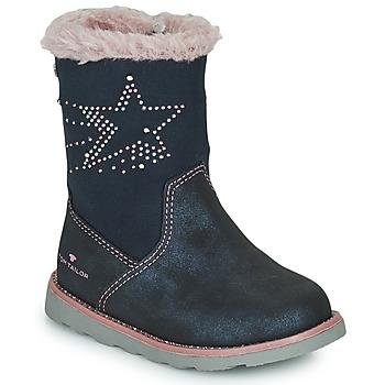 Topánky Dievčatá Čižmy do mesta Tom Tailor 72307-BLEU Modrá