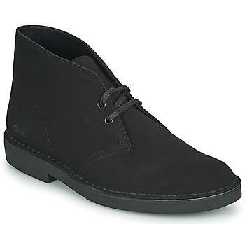 Topánky Muži Polokozačky Clarks DESERT BOOT 2 Čierna
