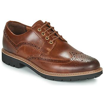 Topánky Muži Derbie Clarks BATCOMBE WING Ťavia hnedá