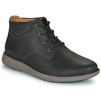 Topánky Muži Derbie Clarks UN LARVIK TOP2 Čierna