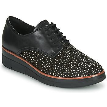 Topánky Ženy Derbie Clarks SHAYLIN LACE Čierna