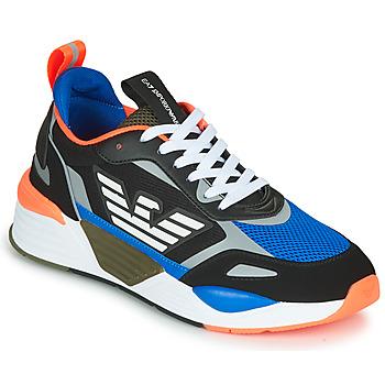 Topánky Muži Nízke tenisky Emporio Armani EA7  Čierna / Modrá / Oranžová