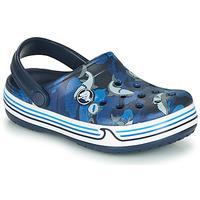 Topánky Chlapci Nazuvky Crocs CROCBAND SHARK CLOG PS Námornícka modrá