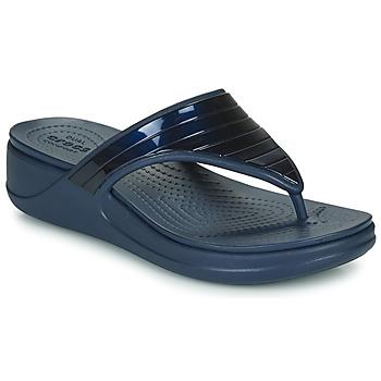 Topánky Ženy Žabky Crocs CROCSMONTEREYMETALLICSTPWGFPW Námornícka modrá