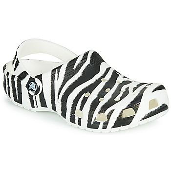 Topánky Ženy Nazuvky Crocs CLASSIC ANIMAL PRINT CLOG Zebra