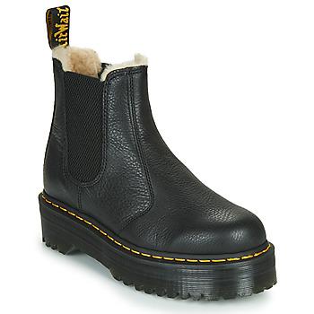 Topánky Ženy Polokozačky Dr Martens 2976 QUAD FL Čierna