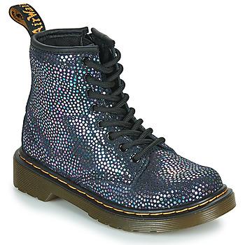 Topánky Dievčatá Polokozačky Dr Martens 1460 J Čierna / Metalická