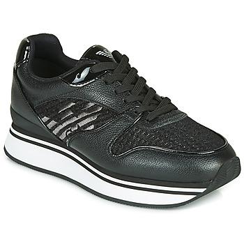 Topánky Ženy Nízke tenisky Emporio Armani  Čierna