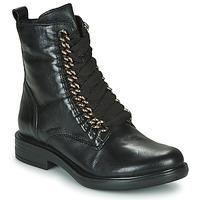 Topánky Ženy Polokozačky Mjus CAFE CHAIN Čierna