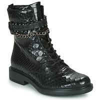 Topánky Ženy Polokozačky Mjus CAFE SNAKE Čierna