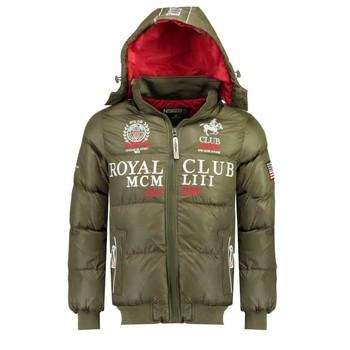 Oblečenie Chlapci Vyteplené bundy Geographical Norway AVALANCHE BOY Kaki