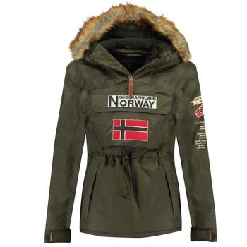 Oblečenie Chlapci Parky Geographical Norway BARMAN BOY Kaki