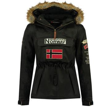 Oblečenie Chlapci Parky Geographical Norway BARMAN BOY Čierna