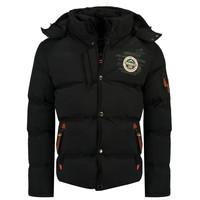 Oblečenie Chlapci Vyteplené bundy Geographical Norway VERVEINE BOY Čierna