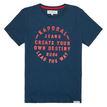 Oblečenie Chlapci Tričká s krátkym rukávom Kaporal ORVAL Námornícka modrá